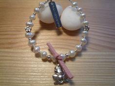 Handmade Kids' Ivory Freshwater Pearls Bracelet by urbaneprincess