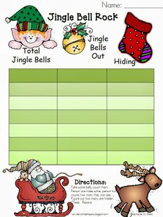 Missing Addend with Jingle Bells (freebie)