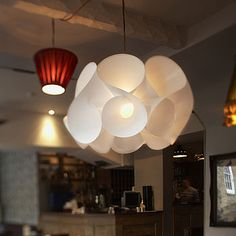 Swirl Light Shade by Kaigami Ltd made in United Kingdom (UK) on CrowdyHouse Dining Lighting, Lampshades, New Furniture, Light Shades, Lighting Design, Lighting Ideas, Home And Living, Living Room, Chandelier