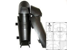 Template for Batman Arkham Origins Shin Guards by TheFoamCave