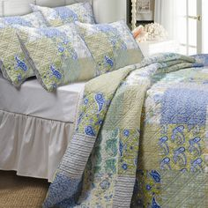 Greenland Home Fashions Vintage Jade Bedspread Set | Wayfair