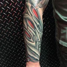 150 Most Creative Biomechanical Tattoo Designs cool