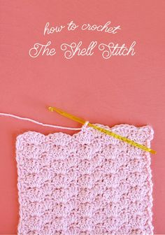 how to crochet the shell stitch - step by step photo tutorial