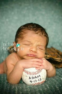 Newborn photography, baseball, baby boy, photography, junebug photography | portrait & birth photographer | Fayetteville, NC and surrounding area Www.facebook.com/junebugpics