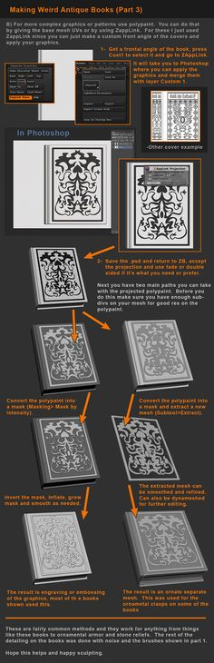 Zbrush Tutorial - Books and Detailing Props P3 by HecM on deviantART