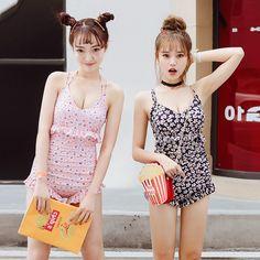 Korean students sweet one-piece swimsuit