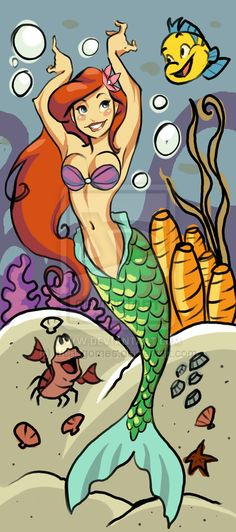 The Little Mermaid. Ariel and Friends.