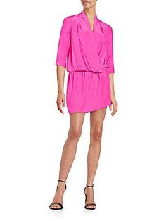 Amanda Uprichard Paloma Silk Dress - Hot Pink - Size S