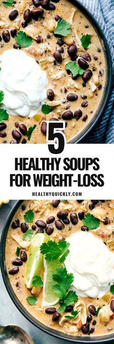 Useful healthy soup recipes for weight loss, clean eating and fat burning. Includes recipes for crockpot, kale, lentil, broccoli, shrimp, chicken, vegetable, beef and more. Easy and quick to make, perfect you are on diet (low carb, gluten free, paleo, protein), or if you are vegetarian or vegan. Best for health, detox and weightloss. Including creamy, skinny and spicy recipes. FREE CHEATSHEET for easy reference included at: healthyquickly.com