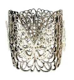 Butterfly Stretch Bracelet BF Wide Silver Tone Recyclebab... http://www.amazon.com/dp/B01EK8E058/ref=cm_sw_r_pi_dp_Ilagxb0P5VA7H
