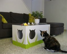 Cat cave version 3 /Cat bed /Scratching post by Wooddesigndforyou