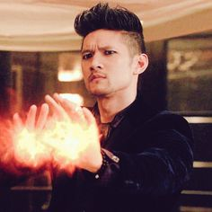 Harry Shum as Magnus Mathew Daddario, Mike Chang, Male Witch, Magnus And Alec, Shadowhunters Tv Show, Alec Lightwood, Clace, City Of Bones, Shadow Hunters