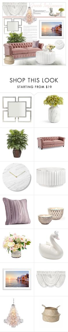 """""""Greek Influence"""" by sassyfashionista-101 ❤ liked on Polyvore featuring interior, interiors, interior design, home, home decor, interior decorating, Bernhardt, Nearly Natural, Frontgate and Simply Vera"""