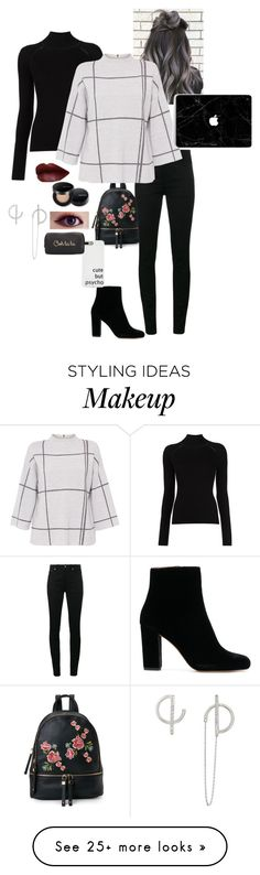 """Untitled #277"" by moon-moose on Polyvore featuring Urban Expressions, Yves Saint Laurent, Misha Nonoo, L.K.Bennett, Neiman Marcus, grey, redlips, wish and SouthKorea"