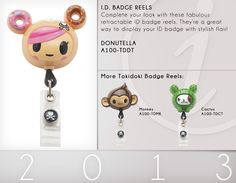 A100 ID Badge Reels from tokidoki | A100-TDDT (Donutella)
