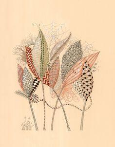 zentangle art by Michele Beauchamp, Certified Zentangle Teacher CZT