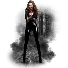 Halloween #21: Vampires Are Here by xmikky on Polyvore featuring art