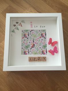 I is for Izzy - personalised memory frame / scrabble letters / handmade - £15.00 plus P&P