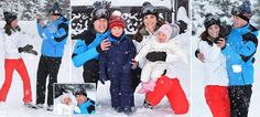 Royals on the piste! Duke and Duchess of Cambridge take their children Prince George, 2,