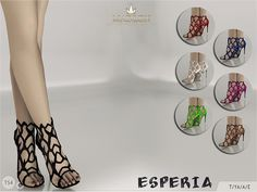 Madlen Esperia Shoes New fancy shoes for you sim! Come in 7 colours (leather texture). Joints are perfectly assigned. All LODs are replaced with new ones. You cannot change the mesh, but feel free to recolour it as long as you add original link in...