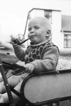Yes...I am a baby smoking a pipe! This made a great birthday card for my brother.