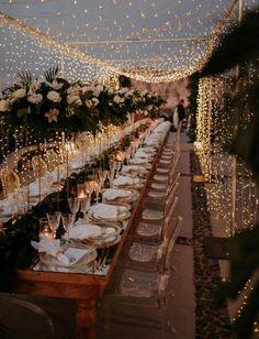 magical wedding reception decor with fairy lights and acrylic chairs Cute Wedding Ideas, Wedding Goals, Perfect Wedding, Wedding Planning, Event Planning, Wedding Ideas For Outside, Budget Wedding, Wedding Ideas Green, Unique Wedding Reception Ideas