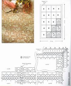 Tischdecke häkeln - crochet tablecloth