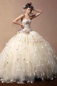 baroque hippie wedding dress