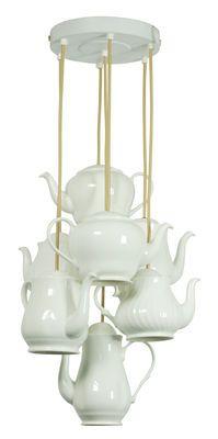 Suspension Teapot / 7 theières en porcelaine Blanc - Original BTC - Décoration et mobilier design avec Made in Design