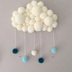 50 New Ideas for kids room rug diy pom poms Diy Crafts Hacks, Diy Home Crafts, Pom Pom Crafts, Yarn Crafts, Pom Pom Rug, Diy Bebe, Art Diy, Ideias Diy, Kids Room Wall Art