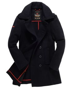 Superdry Bridge Coat Navy