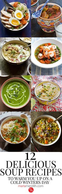 12 Delicious Soup Recipes to Warm You Up on a Cold Winters Day: My family loves soup in the winter. That makes me happy because it means they are eating healthier and I can add in a lot of veggies in to make sure they are getting all the nutrients they need. Soup warms us up on the coldest of days. It's comfort food at its finest!