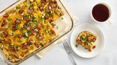This easy casserole filled with bacon, asparagus and tomatoes is perfect for any holiday or family gathering.