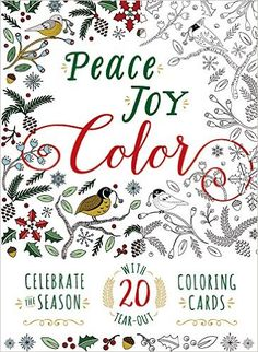 Peace. Joy. Color.: Celebrate the Season with 20 Tear-Out Coloring Cards Adams Media: Amazon.de: Adams Media: Fremdsprachige Bücher