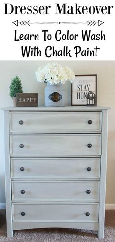 How To Color Wash Effect With Chalk Paint Simply Vintage How To Color Wash Effect With Chalk Paint Simply Vintage Bethany Chandonais bdiddydory Home Repair Dresser Makeover How nbsp hellip furniture diy Easy Home Decor, Cheap Home Decor, Farmhouse Furniture, Home Furniture, Country Furniture, Furniture Stores, Farmhouse Dressers, Furniture Removal, Rustic Painted Furniture