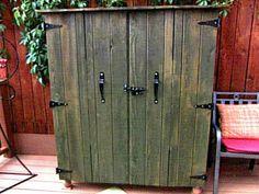 Outdoor cedar tv cabinet