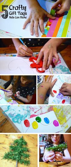 5 Crafty Gift Tags Kids Can Make! *See how kids can easily add their personal touch to gifts with 5 crafty gift tag ideas, on the Melissa & Doug Blog. Creative Arts And Crafts, Creative Play, Christmas Gift Tags, Christmas Art, Early Learning, Fun Learning, 5 Gifts, Melissa & Doug, Free Fun