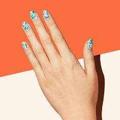 Swirl bold colors together, add a matte topcoat–and suddenly marble becomes more cool than child's play. #forceofnature #nailart #paintboxmani