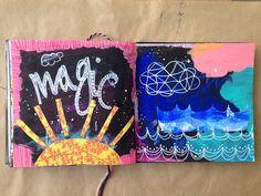 @katem0453 | Magic is COLOUR | Season of Magic | Get Messy Art Journal