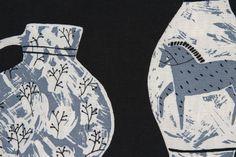 'Vessels' Cushion. Detail - Rosie Moss