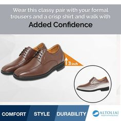 Now Impress your BOSS in your OFFICE with your great personality!! Shop Height Increasing shoe pair Here!  #Altolia #HeightIncreasingShoes #ElevatorShoes