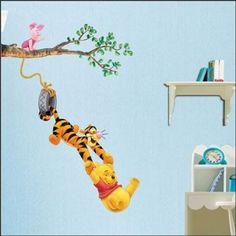 Amazon.com: Winnie the Pooh & Tigger Peel & Stick Kids Room Wall Art Sticker Decals: Baby