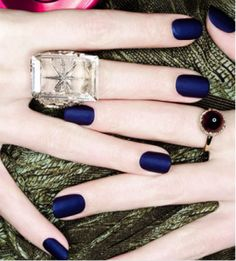 Matte nail color-- OPI Russian Navy