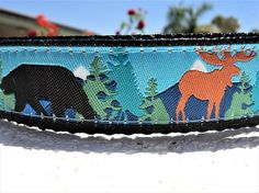 Check out this item in my Etsy shop https://www.etsy.com/listing/512648198/dog-collarmoose-and-bearblue-martingale