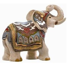From the artists of De Rosa Collection, this stunning White Indian Elephant Sculpture is hand-carved in Uruguay from a Limited Edition of only 2000 pieces. Happy Elephant, Elephant Love, Elephant Art, Elephant Gifts, Elephant Stuff, Ceramic Elephant, Ceramic Animals, Elephant Sculpture, Lion Sculpture