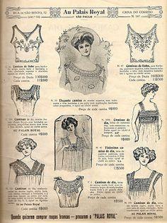 Catalogo Loja Armazem Au Palais Royal coleção 1910 e 1911
