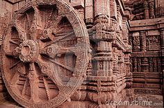 Ancient Architecture At Konark, Odisha in India. Sun temple.