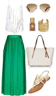 """Green"" by sandra-rocha-santos on Polyvore"
