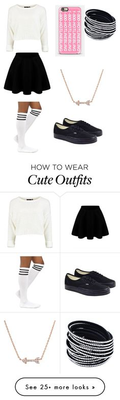 """cute outfit !"" by puggygurl on Polyvore featuring Vans and Casetify"