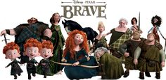 Set in Scotland, Brave follows the story of Merida who is the daughter of King Fergus of Clan DunBroch and Queen Elinor. Description from underthechristmastree.co.uk. I searched for this on bing.com/images